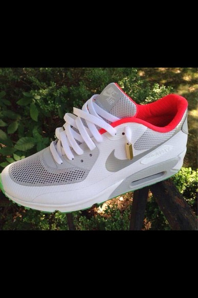 pink white shoes gray air max