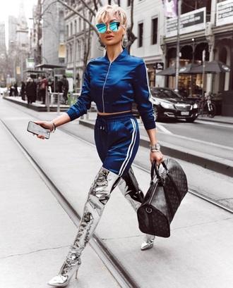 jacket blue adidas nike tracksuit joggers adidas track jacket chic electric blue