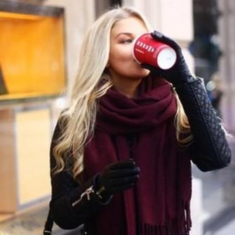 scarf xl scarf dark red scarf red