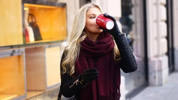 scarf xl scarf dark red