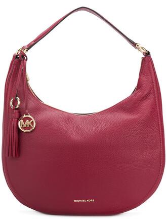 women bag shoulder bag leather red