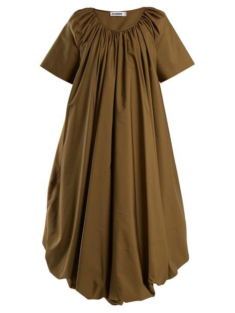 Jil Sander dress cotton khaki