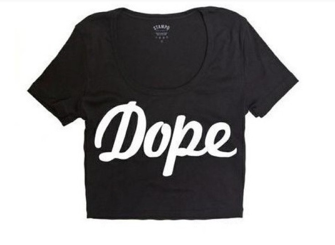 DOPE Crop Top (Available in 2 colors) – Glamzelle
