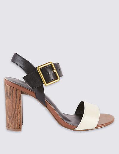 Block Heel Sandals with Insolia®   M\u0026S