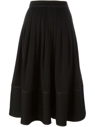 skirt midi skirt pleated midi black