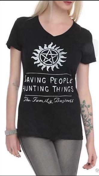 shirt black shirt tv supernatural