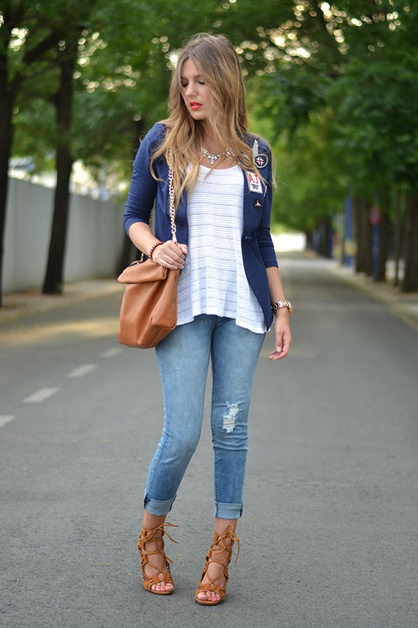 mi aventura con la moda jacket t-shirt jeans shoes jewels bag
