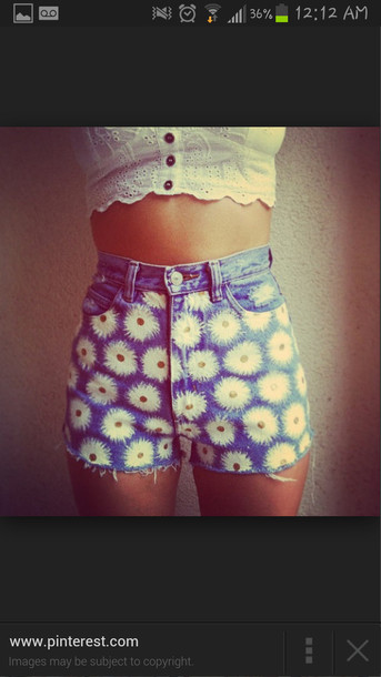 shorts daisy jeans denim shorts High waisted shorts daisy shorts