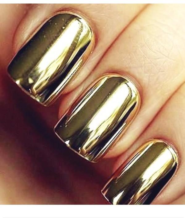 nail polish metalic gold
