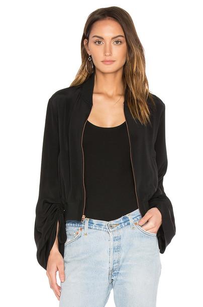 Tibi jacket bomber jacket black