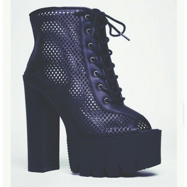 46322b2f73d5 shoes cape robbins platform lace up boots platform shoes booties ankle boots  black boots platforms shoes
