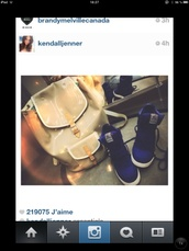 bag,kardashians,fashion,Accessory,instagram,beige,blue,high top sneakers,shoes