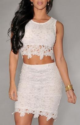 2 pieces Tight Lace Dress  - Juicy Wardrobe