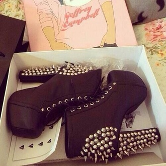 shoes studded litas solid black summer hipster jeffrey campbell jeffrey campbell lita pastel grunge platform shoes