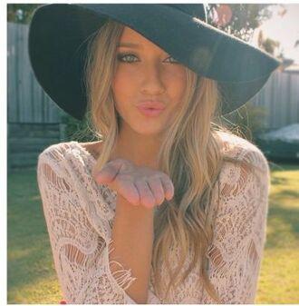 shirt summer crochet lace top loose hipster hat
