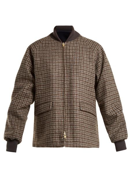 Chimala jacket bomber jacket wool navy brown