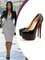 Kmi kardashian heels black leather round toe red bottom stiletto 160 mm daffodile platform pumps