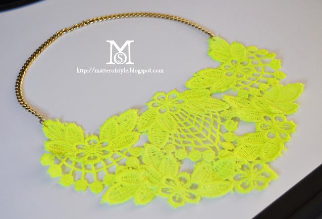 diy neon statement necklace - photo #18