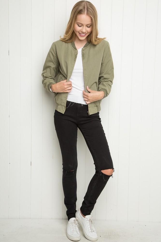 Brandy ♥ Melville   Kasey Bomber Jacket - Jackets - Outerwear ...