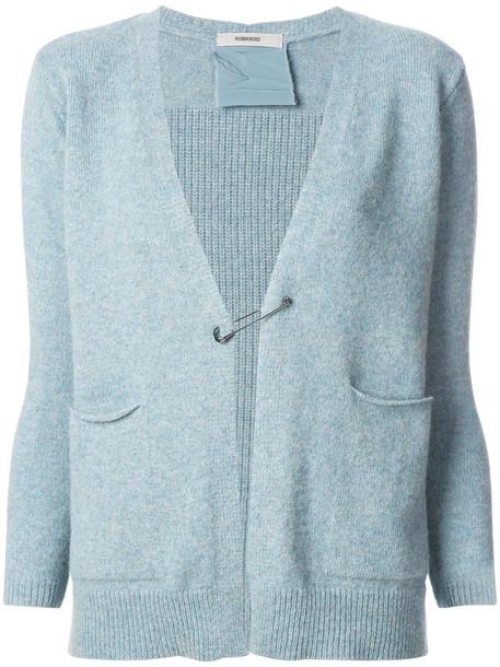 humanoid cardigan cardigan women blue silk wool sweater