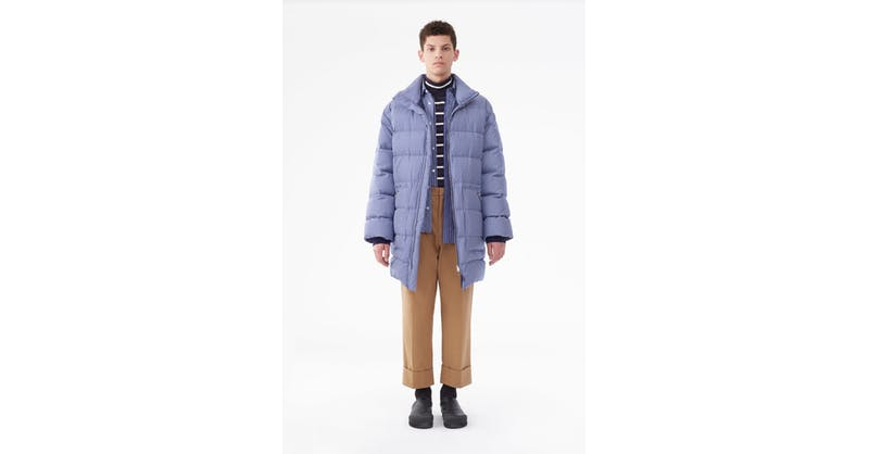 Striped Oversized Down Coat by 3.1 Phillip Lim