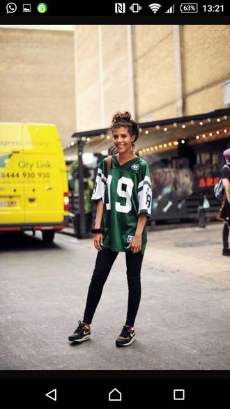 blouse shirt green swag dope streetwear asain white nike urban shoes