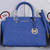 Michael Kors Original Leather Handbag And Tote Mk8700 Navy Blue