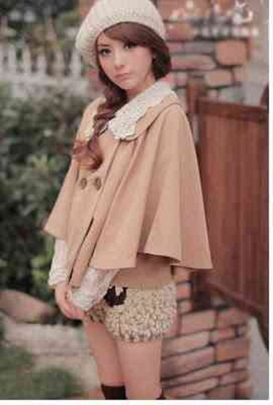 coat cape cloak cape coat poncho