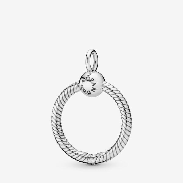 Pandora Moments Small O Pendant | Silver | 398296
