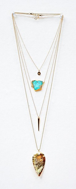 jewels long necklace gemstone gold necklace boho stacked jewelry boho jewelry gypsy native american turquoise jewelry jewelry layered necklace turquoise bohemian