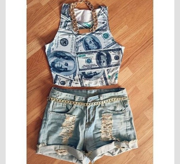 top money crop tops dope cute fashion