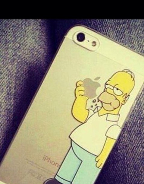 jewels iphone cover iphone case iphone the simpsons homer simpson