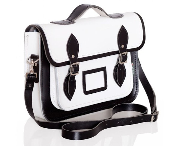 bag black and white buckles handbag leather leather bag