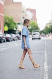 we wore what,blogger,dress,t-shirt dress,gladiators