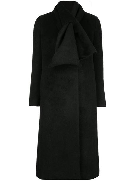 Tomorrowland coat double breasted women black wool