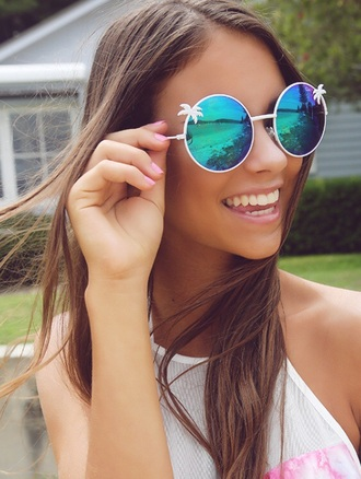 sunglasses girl summer pastel hair fashion style outfit