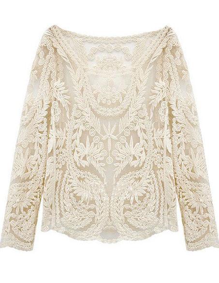 Crochet stem blouse