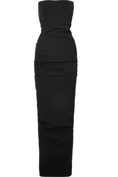 Rick Owens gown cotton black dress