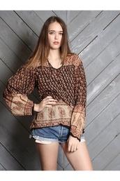 blouse,tunic blouse,gypsy blouse,beige,khaki,indian cotton,indian gauze,Californication,tunic top,hippie top,hippie blouse,gypsy boho festival top