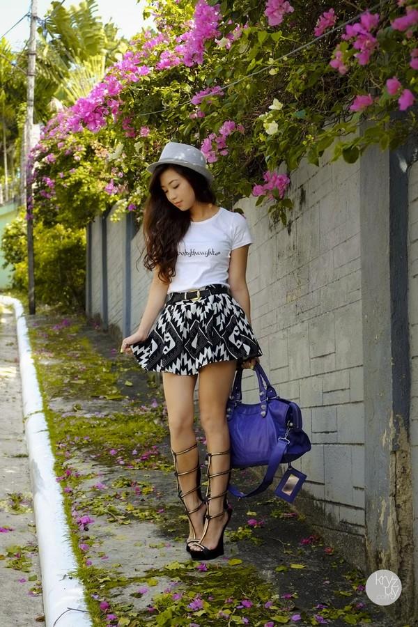 kryzuy shirt hat shoes bag skirt