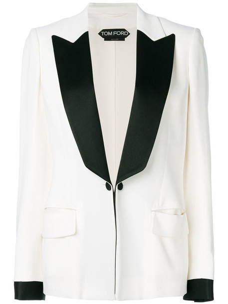 blazer women spandex white silk jacket