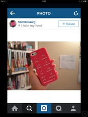 phone cover,red,white,smile