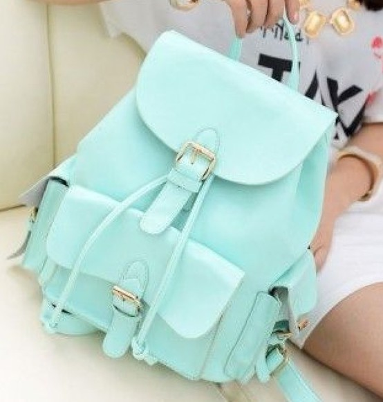 swag girl bag kawaii mint green hipster skirt adorable