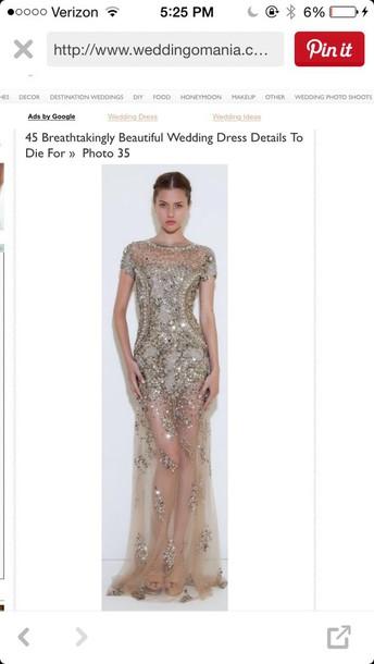 dress prom dress gold