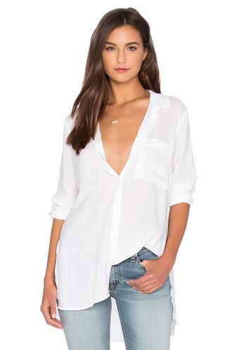 tunic slit white