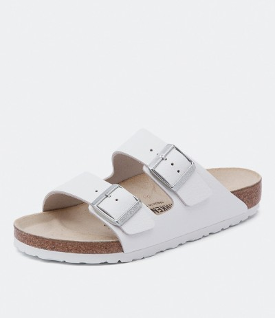 Women's Arizona White by Birkenstock Shoes Online from Styletread