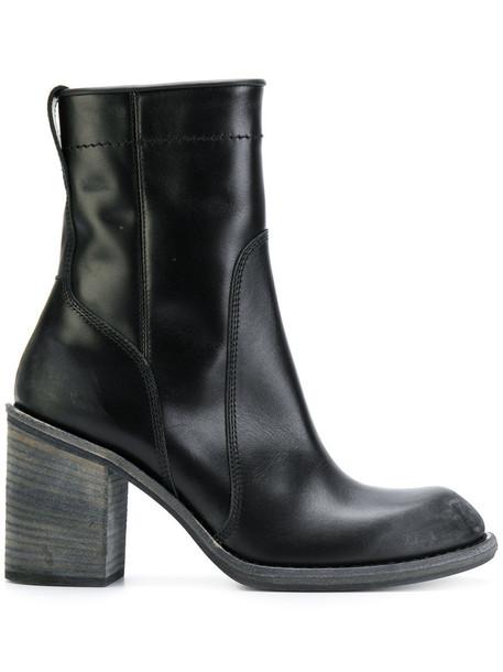 Haider Ackermann women leather black shoes