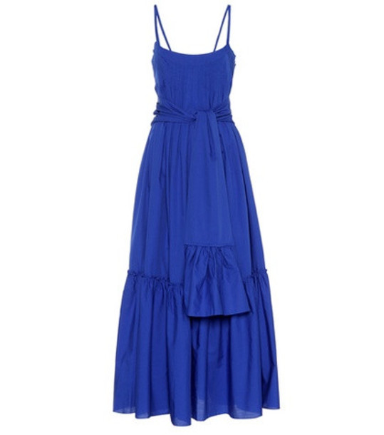 Three Graces London Ariadne cotton maxi dress in blue