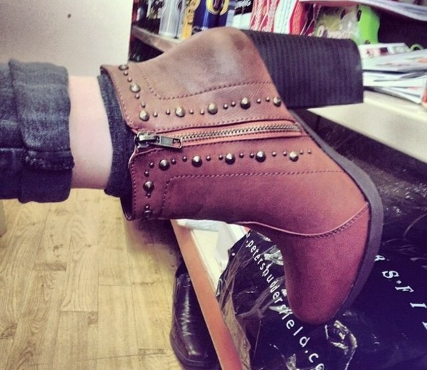 shoes boots brown leather boots amazing