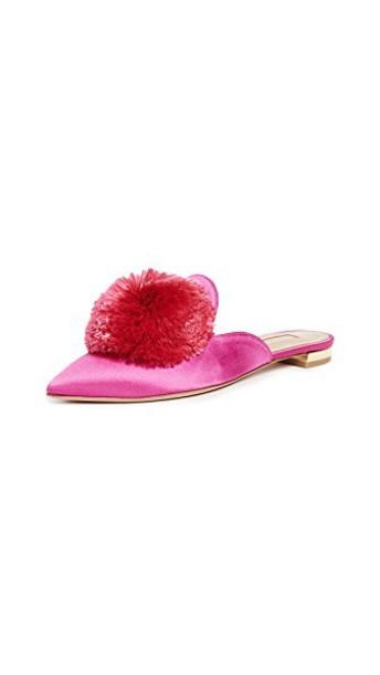 Aquazzura flats pink shoes